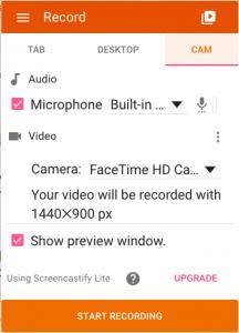 Screencastify screenshot.