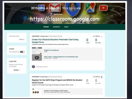 Google Classroom the Next Step