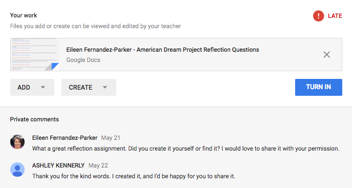 Google Classroom Assignment