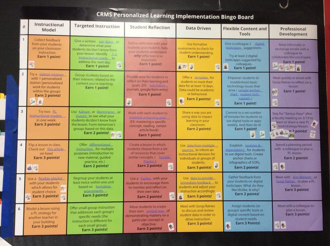 Professional Development Bingo Board